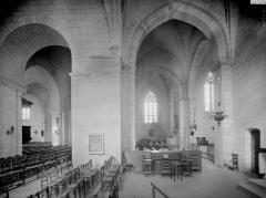 Eglise paroissiale Saint-Epain - Choeur, vue diagonale prise du bras sud du transept