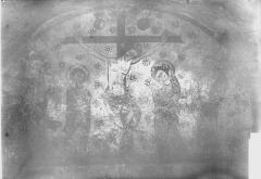 Eglise Saint-Hilaire - Peinture murale de la crypte