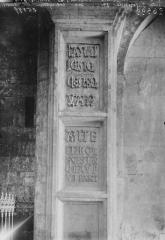 Eglise Sainte-Lheurine - Inscription