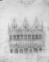 Hôtel de ville - Restauration d'après le relevé de Vinson