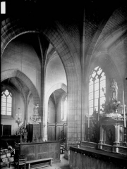Eglise Saint-Chartier de Javarzay - Choeur, vue diagonale