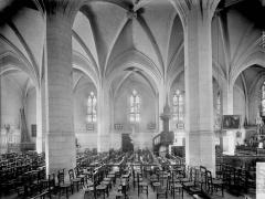 Eglise Saint-Héray - Nef, vue diagonale prise du nord