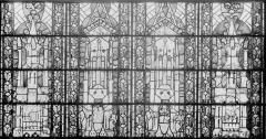 Eglise Saint-Gengoult et son cloître - Vitrail restauré, quatre dais