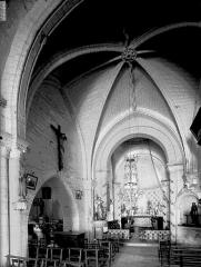 Eglise Saint-Martial - Nef, vue de l'entrée