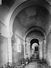 Eglise Saint-Cybard de Porcheresse - Nef, vue de l'entrée