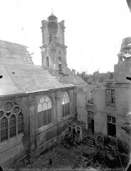 Ancienne abbaye Saint-Léger - Eglise, clocher et partie de la façade nord