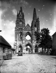 Ancienne abbaye de Saint-Jean-des-Vignes - Eglise, façade ouest