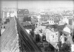 Abbaye de la Couture - Eglise, partie dérasée, vue cavalière