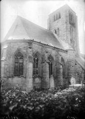 Eglise - Abside et clocher, au nord