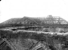 Ancienne collégiale Saint-Quentin - Bras sud du transept, combles, chevronnage