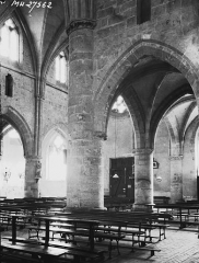Ancienne abbaye cistercienne - Eglise, nef, vue diagonale