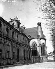 Ancienne abbaye - Palais abbatial, façade et abside de la chapelle