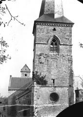 Eglise - Clocher de la façade ouest
