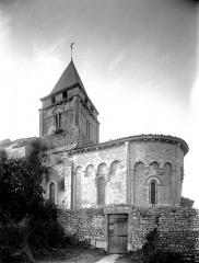 Eglise Saint-Saturnin - Abside et clocher, au sud