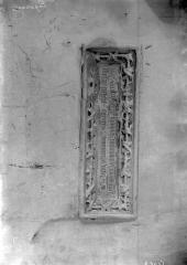 Eglise Saint-Martin - Bas-relief: inscription