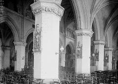 Eglise Saint-Saulve - Bas-côté sud et nef vus de l'entrée