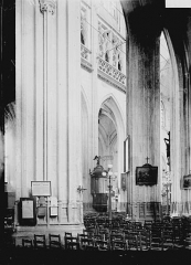 Eglise Saint-Vulfran ou ancienne collégiale - Nef: vue diagonale