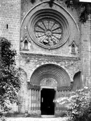 Cathédrale  dite église Notre-Dame-du-Bourg - Portail et rose