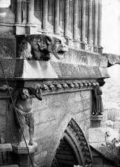 Cathédrale Notre-Dame - Cariatides, gargouilles et galerie Viollet-le-Duc, abside