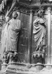 Cathédrale Notre-Dame - Portail ouest, saint Joseph, Abiathar