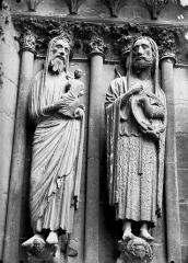 Cathédrale Notre-Dame - Portail ouest, saint Jean-Baptiste, saint
