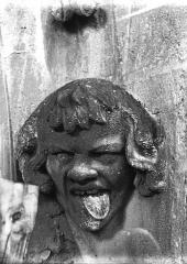 Cathédrale Notre-Dame - Tête d'amortissement d'arc, homme tirant la langue