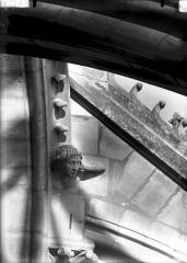 Cathédrale Notre-Dame - Tête formant sommier d'arc-boutant, tête s'appuyant sur la main