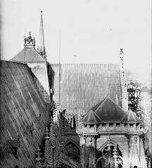 Cathédrale Notre-Dame - Toiture du bras sud du transept