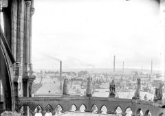Cathédrale Notre-Dame - Chapelle de l'abside, animaux d'amortissement de la galerie supérieure, vue de dos