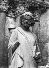 Cathédrale Notre-Dame - Buste de statue, ébrasement gauche, porte sud
