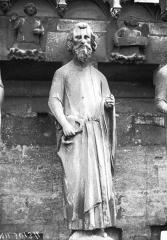 Cathédrale Notre-Dame - Bras nord du transept, statue de prophète