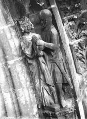 Cathédrale Notre-Dame - Portail ouest, groupe, David et Paul