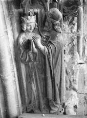 Cathédrale Notre-Dame - Portail ouest, groupe, Sacre de David