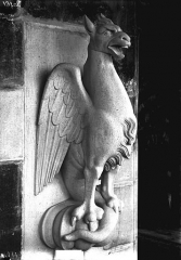 Cathédrale Notre-Dame - Bête d'amortissement, oiseau, tour nord