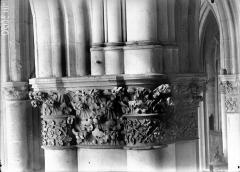 Cathédrale Notre-Dame - Chapiteau du deuxième pilier de la chapelle absidiale