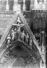Cathédrale Notre-Dame - Portail ouest, pignon de la porte nord