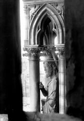 Cathédrale Notre-Dame - Buste de statue, contrefort de la tour nord