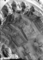 Cathédrale Notre-Dame - Portail nord, Beau Dieu, sommet de la voussure
