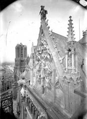 Cathédrale Notre-Dame - Partie supérieure du pignon sud, l'Assomption