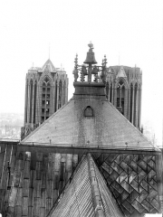 Cathédrale Notre-Dame - Carillon et sommet des tours du clocher à l'Ange