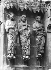 Cathédrale Notre-Dame - Portail nord, portail de la Résurrection, ébrasement gauche