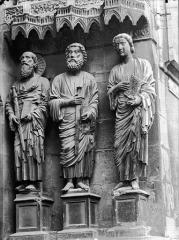Cathédrale Notre-Dame - Portail nord, portail de la Résurrection, ébrasement droit