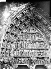 Cathédrale Notre-Dame - Portail nord, portail de saint Sixte, tympan