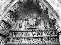 Cathédrale Notre-Dame - Portail nord, portail de la Résurrection, tympan, parties hautes
