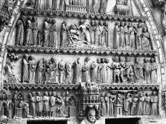 Cathédrale Notre-Dame - Portail nord, portail de saint Sixte, tympan, registres inférieurs