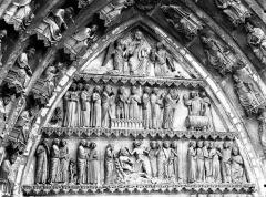 Cathédrale Notre-Dame - Portail nord, portail de saint Sixte, tympan, parties hautes