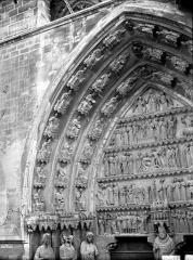 Cathédrale Notre-Dame - Portail nord, portail de saint Sixte, voussure gauche et partie du tympan