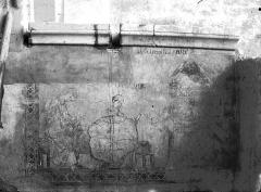 Cathédrale Notre-Dame - Fresque du 13e siècle, aujourd'hui détruite qui se trouvait dans l'ancien Cadulaire du Chapitre