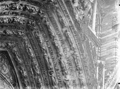 Cathédrale Notre-Dame - Portail ouest, porte centrale, voussure droite, partie supérieure
