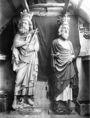 Cathédrale Notre-Dame - Galerie des Rois, deux rois, restauration